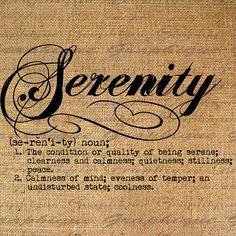 serenity def