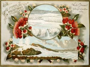 Christmas card circa 1886. Hmm, snow?