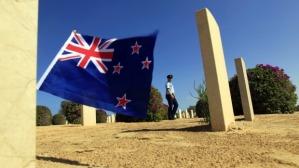 our flag flying over war graves in Egypt