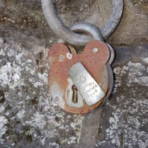 Padlock at Cornwall Park enterance