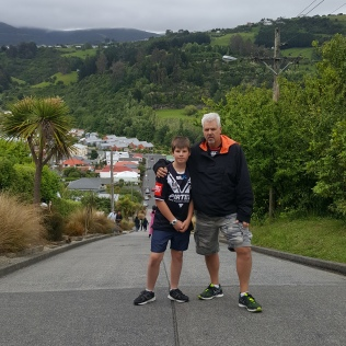 23/12 - Dunedin. After the Cadbury factory tour, we went to Baldwin St, the steepest st in the world! And you HAVE to walk it...yay for bootcamp as prep!