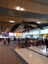 Gandalf & an eagle, Wellington Airport cafe