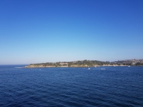 Sydney Nobby's Point from Pacific Jewel - spot the two lighthouses
